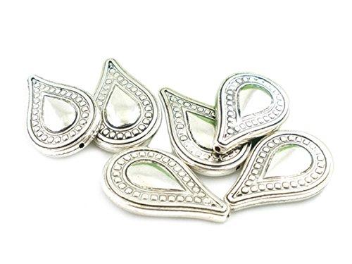 Housweety Bijoux - Perles intercalaires Plastique larme 35x22mm - 20 Pcs