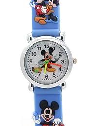 Timermall Mickey Mouse Kids Light Blue Watch Guard Water Resistance Quartz Analogue Cartoon Watches