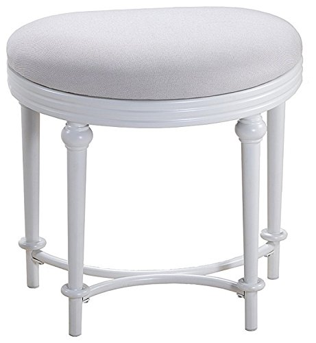 - Cape May Vanity Stool in Matte White