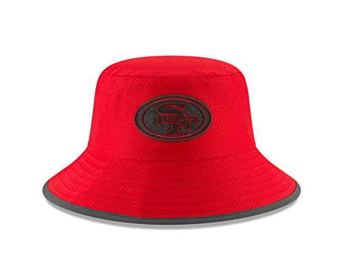 San Francisco 49ers Training Camp - New Era San Francisco 49ers Red 2018 NFL Training Camp Official Bucket Hat