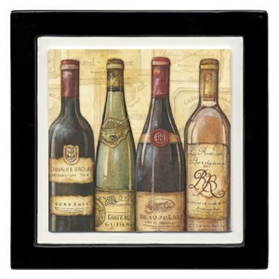 [Thirstystone Ambiance Coaster Set, Bottled at The Vineyard, Multicolored by Thirstystone] (Vineyard Halloween Costume)