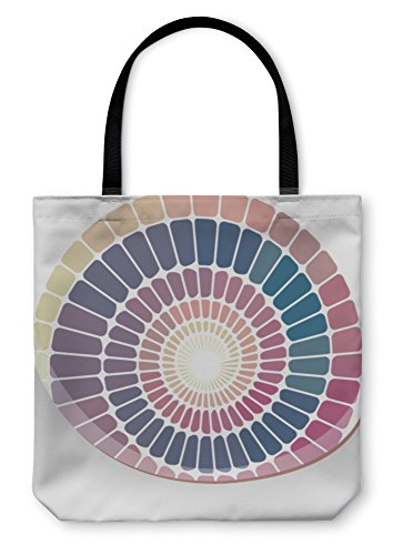 Gear New Shoulder Tote Hand Bag, Abstract Geometric Mosaic, 18x18, 496264GN Radial Tile