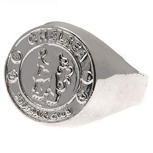Chelsea F.c. Silver Plated Crest Ring Small ()