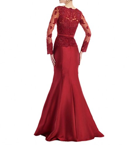 La Rot Langarm Abendkleider Marie Brautmutterkleider Damenkleider Ballkleider Langes Braut Rot Elegant wZATfxwpq
