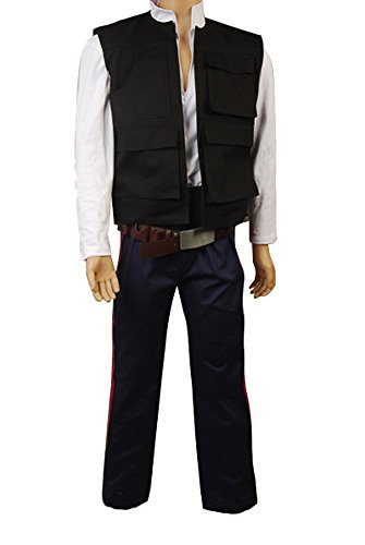 [Men's Star Wars ANH A New Hope Han Solo Costume Vest Shirt Pants US Size Large] (Han Solo Adult Costumes)
