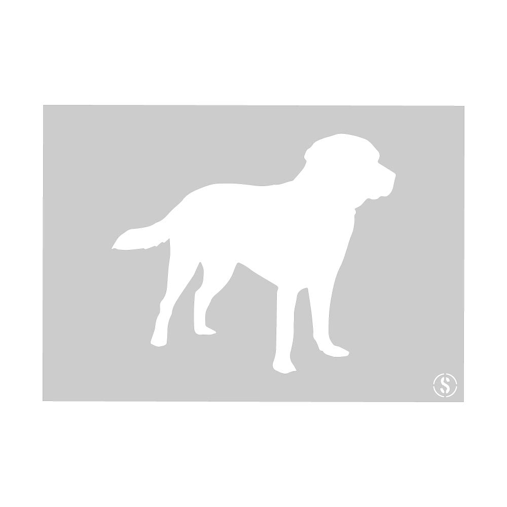 The Stencil Studio Ltd Labrador Dog Stencil Size Extra Large 10160XL A1 Reusable Stencil