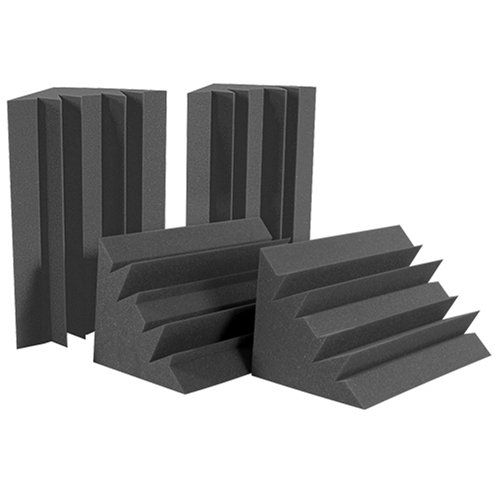 Auralex Acoustics LENCHA LENRD Acoustic Absorption Bass Traps, 24'' x 12'' x 12'', 8 Pack, Charcoal