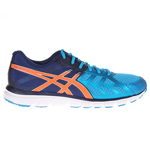 ASICS Gel Zaraca 3 Mens Cushioned Running Trainer Shoe - Blue / Orange