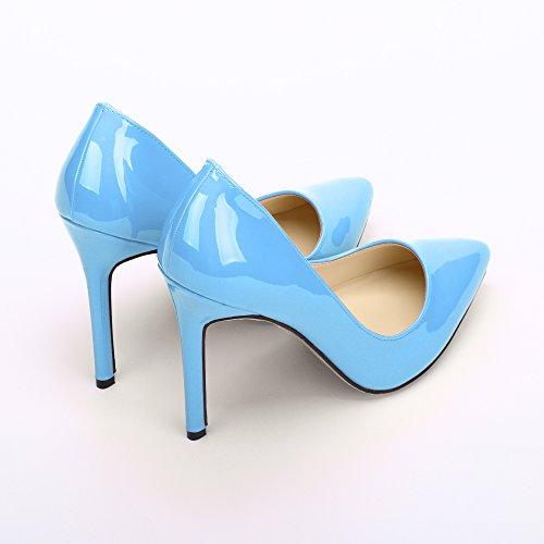 Sexy Cuir Cheville Haut Ochenta 110 Ciel Club Bleu Pu Talon Soiree Escarpin En Femme Aiguille 4RqEU
