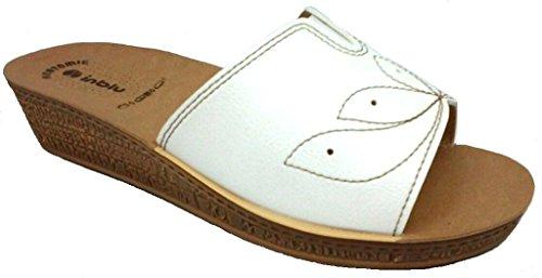 INBLU ciabatte pantofole aperte donna mod. DI-43 BIANCO LINEA BENESSERE