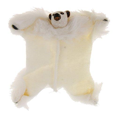 Jili Online 1/12 Fabric Bear Rug Floor Carpet Dollhouse Furniture Accessory Miniature from Jili Online