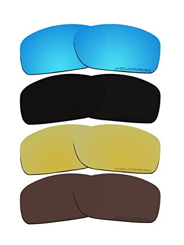 4 Pairs Polarized Replacement Lenses C9 for Oakley Crankcase OO9165 - Sunglasses C9