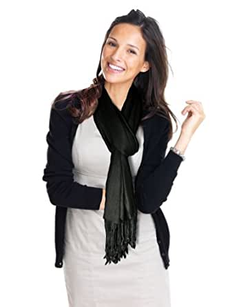 Lauren Solid Color Stunning Pashmina (Black)