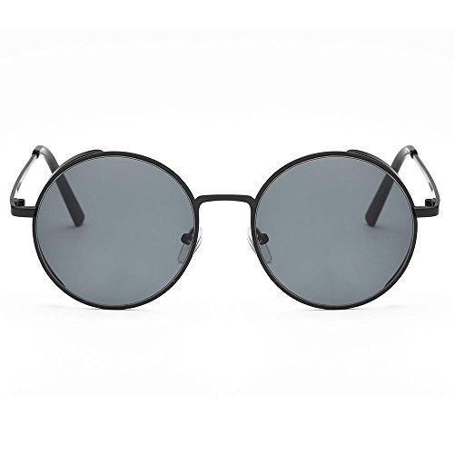 VJGOAL Gafas de sol clásicas redondas con montura de metal ...