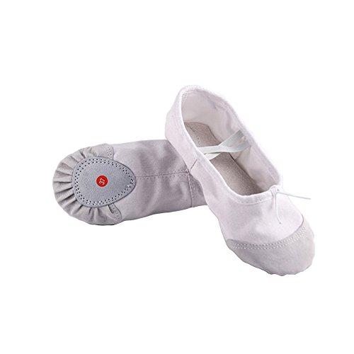 37 Shoes Girls elegantstunning Shoes Dancing Yoga Ballet Comfortable Flats White Breathable Soft Kids Dance Children Pointe Women Slippers pfRTqftx