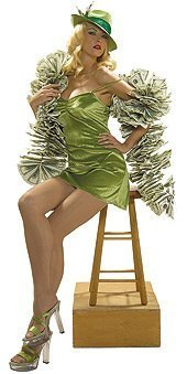 Million Dollar Babe Costume - Standard - Dress Size 6-12 - High Dollar Halloween Costumes