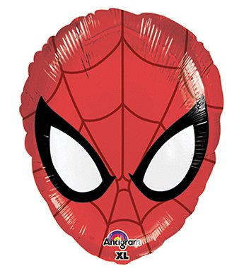 Spiderman Face Shaped Balloon - 1 Count