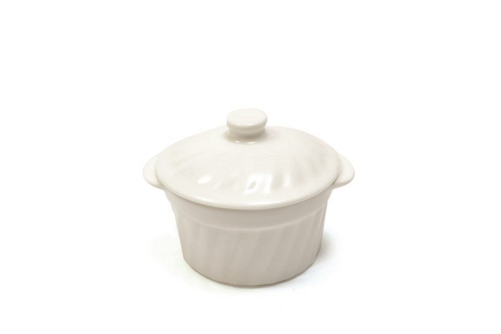 White Basics Collection, 3.5'' Ramekin with Lid, Small, White