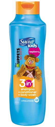 Suave Kids 3 in 1 Shampoo Conditioner and Body Wash, Razzle
