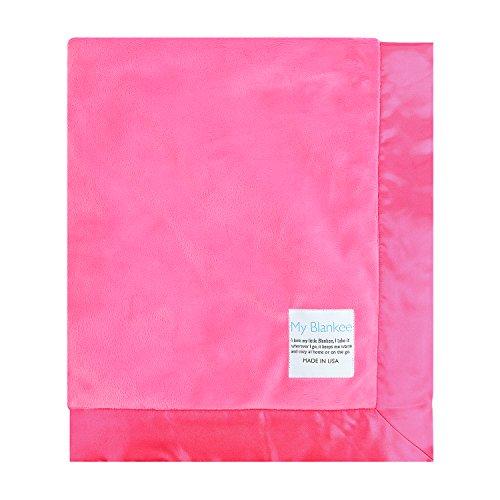 My Blankee Minky Throw Blanket with Flat Satin Border, Ra...