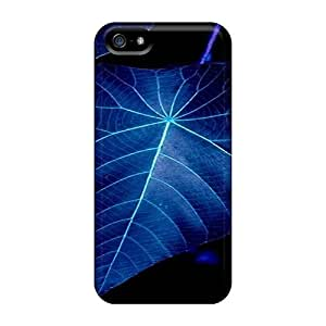 Case Cover Protector For Iphone 5/5s Blue Leaf Case