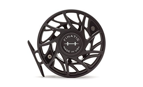 Hatch Gen 2 Finatic 7 Plus Fly Reel, Black/Silver, Large Arbor (Fishing Fly Hatch)