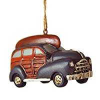 Blue Woodie Hanging Christmas Tree Ornament