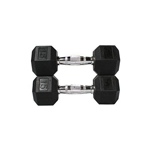 Fitness Republic Hex Dumbbells 15 lbs Set (Hand Weights)
