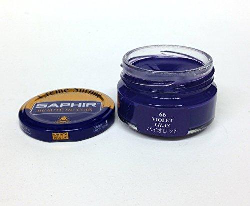 Saphir Shoe Cream Beaute du Cuir Creme Surfine 50ml glass jar (Violet)