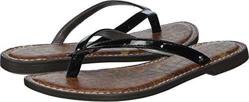 Black Leather Flip Flop - Sam Edelman Women's Gracie Flip-Flop, Black Patent, 6.5 M US