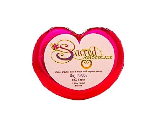 Sacred Chocolate Gogi Nibby Chocolate 1.44 Oz (11 Pack) by Sacred Chocolate