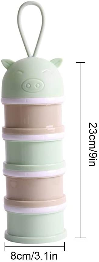 QUUY Milch Pulver Spender 4 Schicht Formel Milchpulver-Portionierer BPA-freier Baby Milchpulver Aufbewahrungsbox F/ür Reisen Und Nach Hause Tragbarer Milchpulver Box S/äuglingsnahrung Kasten