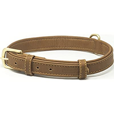 Friends Forever Dog Leather Collar Brown Small 11-13.5""