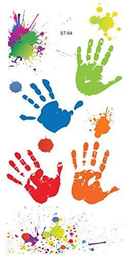 Supperb Temporary Tattoos – Hand Paints & Splashing Paint