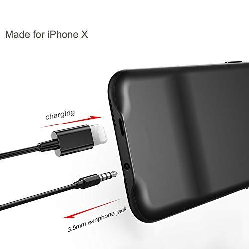 iPhone 3.5 mm オーディオケース 無料ガラススクリーンプロテクター1つ付き 充電と音楽のリスニングを同時に/iPhoneケース/ライトニング 3.5 mm ヘッドホンジャックアダプター iPhone 7/8   B07HQLSPPG