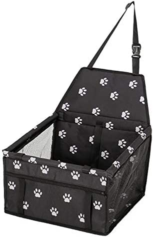 ペットシートカバー ペットハンモック防水滑り止め犬バックシートカバープロテクターの場合は、傷から車を保護します (Color : Black, Size : 40x30x25cm)