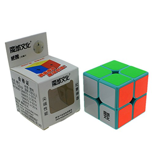 CuberSpeed Moyu Weipo 2x2 Teal Magic cube 2x2x2 Weipo Green