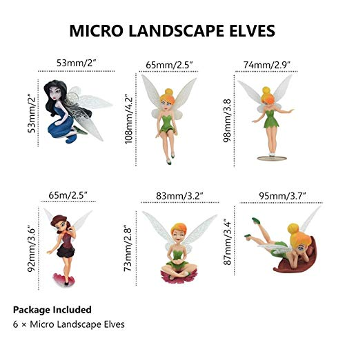 ZAMTAC 6Pcs/lot Beautiful Resin Fairy Kawaii Angel Fairy Garden Supplier Miniatures Set Garden Figurines Home Decorations Ornaments - (Color: 6 Angels one -