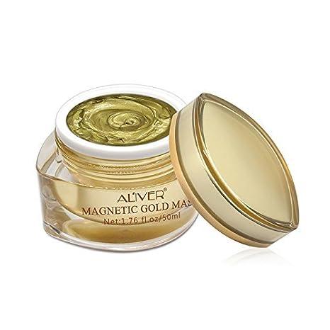 ALIVER Magnetic Gold Mask Mascarilla de oro magnética, rica en minerales, brillo y limpieza profunda de los poros, elimina las impurezas de la piel, ...
