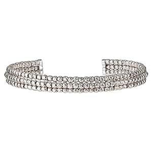 Promise Jewels Women's Silver 925 Flexible Wrist Cuff Bracelet - BG000030