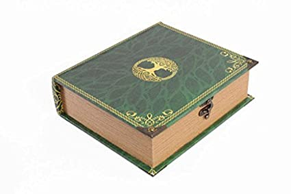 Wizardry Foundry Grimoire Deck Box Primeval Wooden And Fabric Lined Portable Deck Box For Mtg Yugioh And Other Tcg 1000 Card Capacity