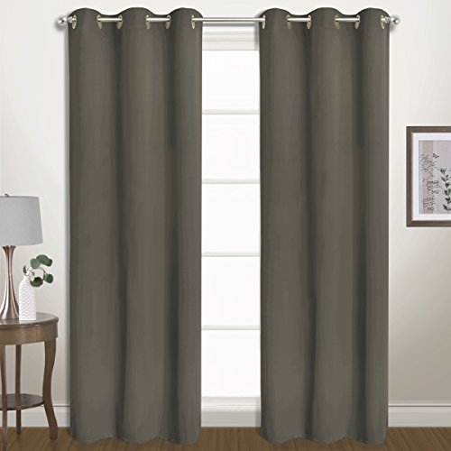 United Curtain Co. Belize Blackout Window Curtain Panel Pair, 80