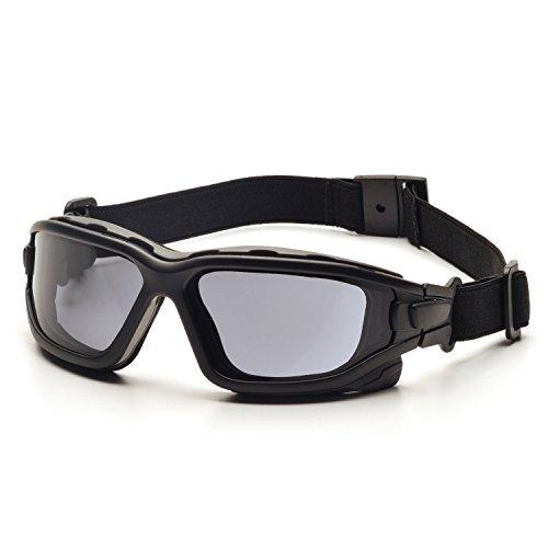 Pyramex I-Force Slim Black Frame Gray AF Lens Sealed Eyewear by Pyramex Safety
