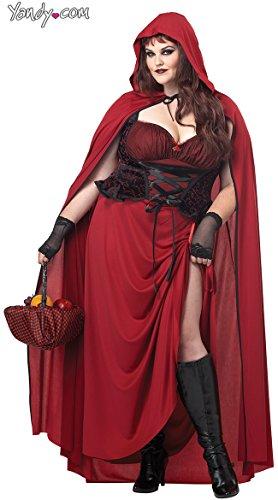 California Costumes Women's Plus-Size Dark Red Riding Hood Plus, Red, 3X -