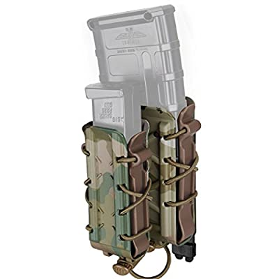 IDOGEAR Mag Pouch 5.56mm 7.62mm Rifle Magazine Pouches Molle Tactical Airsoft 9mm Pistol Magazine Holder Poly Mag Carrier Hunting Equipment Holder Set