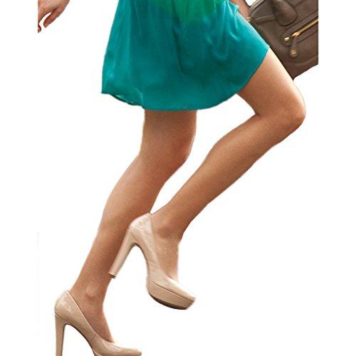 L'eggs Women's Sheer Energy Control Top Reinforce Toe Pantyhose, Suntan, B (Regular Sheer Toe Pantyhose)