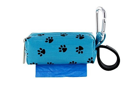 - Doggie Walk Bags Square Duffel Paw Print Bag, Blue