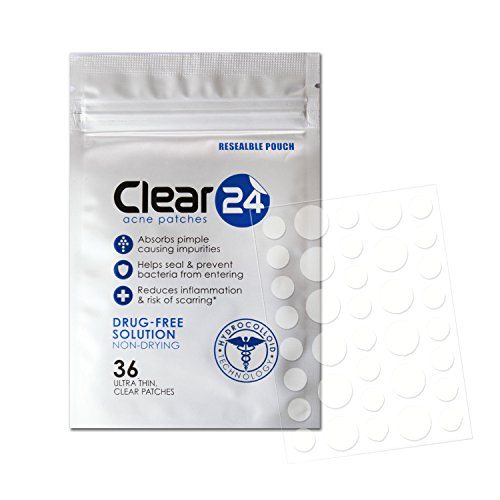 (Clear24 Ultra Thin Acne Patch (Ideal For Day Use), 36 Patches )