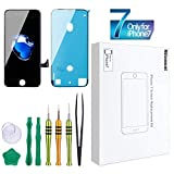 #10: Screen Replacement Compatible iPhone 7 Black 4.7inch Digitizer Repair LCD replacement Kit screen assembly
