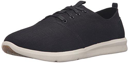 Toms Mens black linen Del Rey sneakers (10.5)